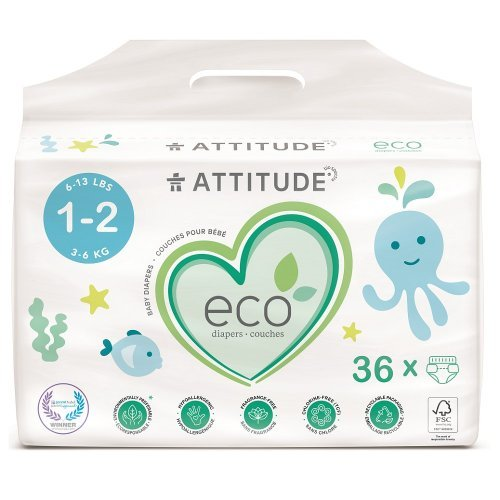Attitude Detské plienky Mini (veľkosť 1-2 / 3-6kg) 36 ks