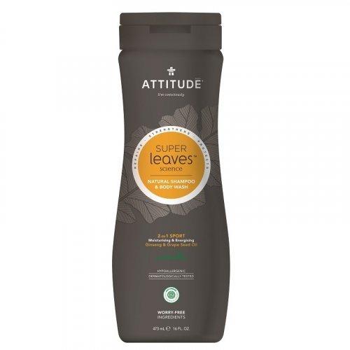 Attitude Pánsky šampón a telové mydlo (2v1) normálne vlasy 473ml