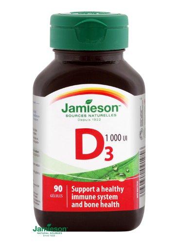 Jamieson vitamín D3 1000 IU 90 cps