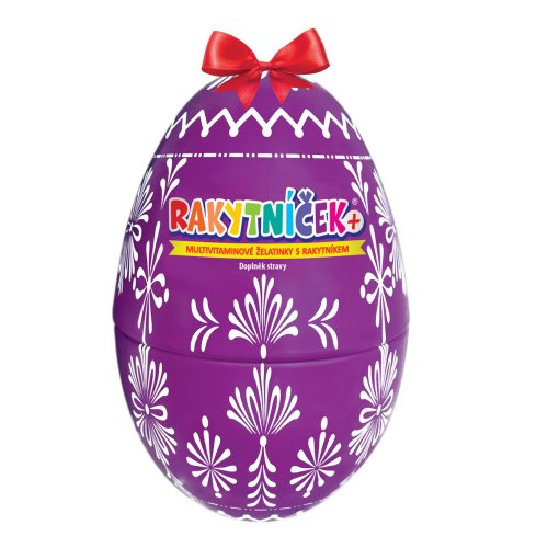 TEREZIA Rakytníček+ želatínky veľkonočné vajce fialové 50 ks