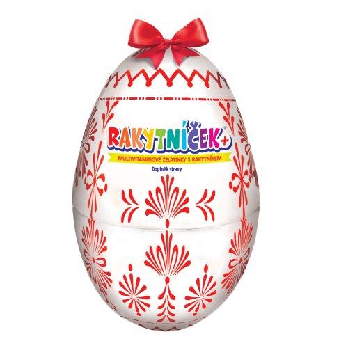 TEREZIA Rakytníček+ želatínky veľkonočné vajce biele 50 ks