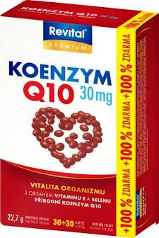 Revital KOENZÝM Q10 30 mg + VITAMÍN E + SELÉN cps 30+30