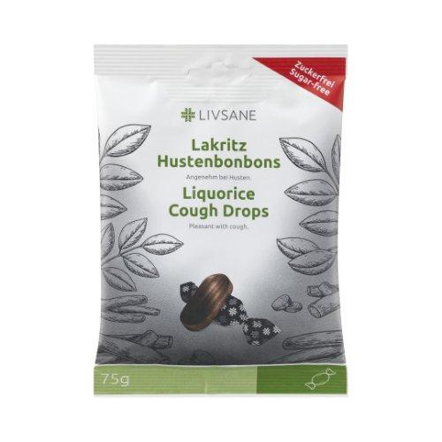 LIVSANE Pastilky proti kašlu s príchuťou sladké drievko 75 g