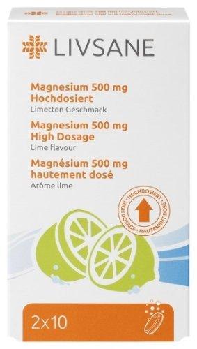 LIVSANE Magnézium 500mg šumivé tablety, Limetka 20 ks