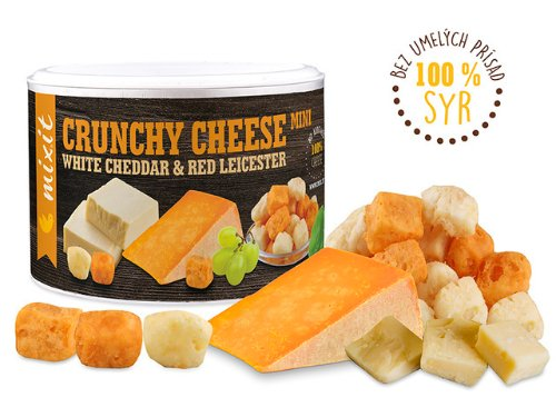 Mixit Chrumkavý syr: White Cheddar & Red Leicester 70 g