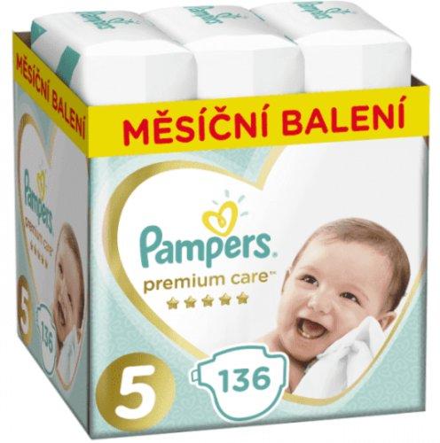 PAMPERS Premium Care 5 JUNIOR 136 ks (11-16 kg) MESAČNÁ ZÁSOBA