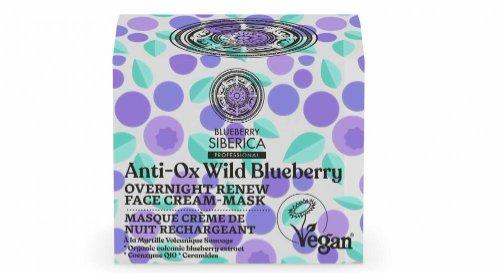 Natura Siberica Anti-OX Divoká Čučoriedka - Nočná obnovujúca pleťová krémová maska 50 ml