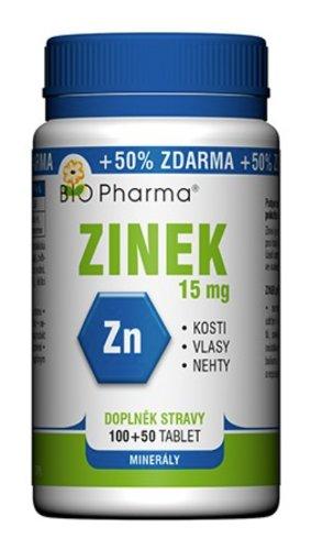 BIO Pharma Zinok 15 mg tbl 100+50 zadarmo