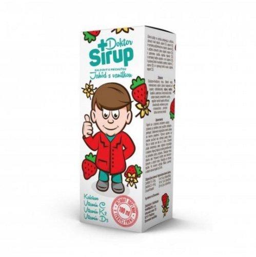 Doktor Sirup kalciový sirup s príchuťou jahôd s vanilkou 100 ml