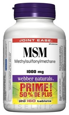Webber Naturals MSM 1000 mg BONUS